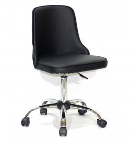 Стул офисный (компьютерный) Adam на колесах, основа хром или черный, кожзам или бархат