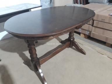 Стол обеденный Закарпатье (Простой) деревянный, раскладной, орех темный