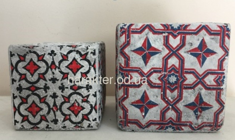 Кашпо керамическое Марокко 13*13/11*11см 17209/17208 ФД