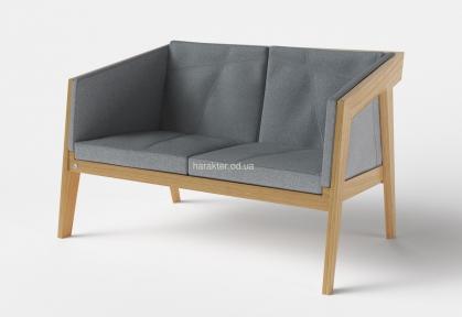 Диван Air 2 Sofa, масив ясеня, м'яки елементи текстиль ETNA Lira мки