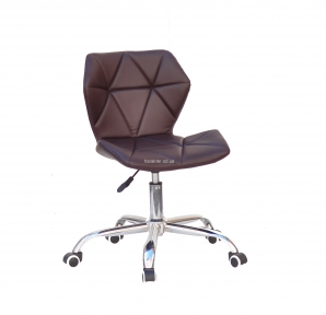 Стул офисный, компьютерный Грэг Office основание хром, колеса, мягкая сидушка кожзам или бархат