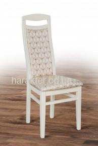 Стілець Яна (Феникс) біла емаль, темний горіх, тканина мм