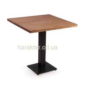 Стол с деревянной столешницей ВО Рон круглая или квадратная столешница