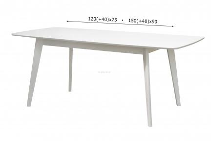 Стол обеденный Модерн, стіл Модерн, столешня мдф, каркас бук, 120*75, 150*90