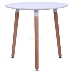 Стол обеденный Trio d-80 круглый - столешница МДФ (цвет белый) амф