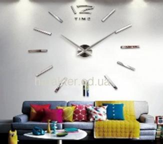 Часы настенные, Годинник Настінний, Цифри Метал, Часы 3D 12S00 фд