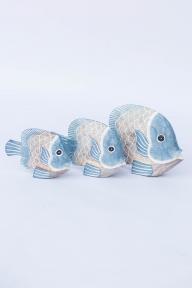 Декор морской Рыба голубая, бежевая