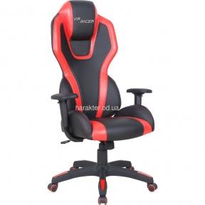 Кресло VR Racer Atom черный, PU черный/красный амф