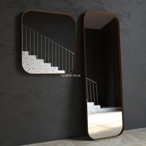 Зеркало в металлической раме Horizon три размера