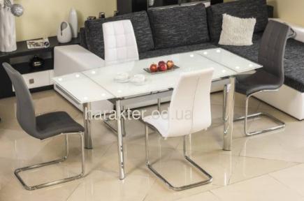 Стол стеклянный, раздвижной GD-020 сл