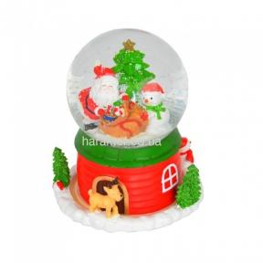 Музыкальный снежный шар NG201 с диодной подсветкой и  автоподдувом снега