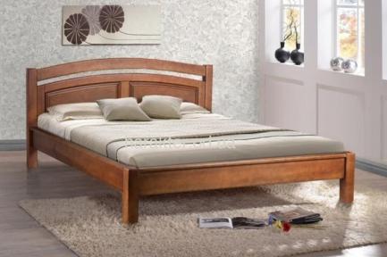 Кровать двуспальная Фантазия, массив ольхи мм