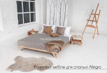 Ліжко-подіум двоспальне Allegro у скандинавському та лофт стилі