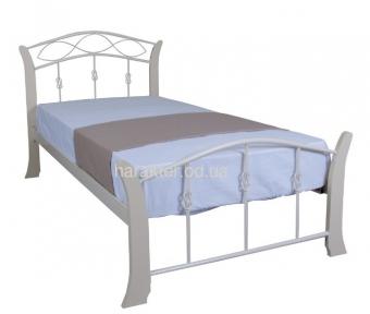 Кровать односпальная металл/дерево Летиция вуд кмм 80/90/120см