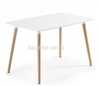 Стол обеденный Нури, деревянный, бук, 120х80 см, цвет белый