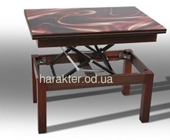 Стол трансформер Флай со стеклом