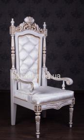 Мягкое кресло Трон, дерево, обивка на выбор