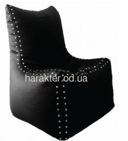 Кресло-мешок, пуф с заклёпками, бескаркасная мебель CLASSIC-XXL лц