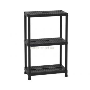 Универсальный стеллаж, этажерка на 3 полки Universal Vent 63-3, черний, 60x30x95h см