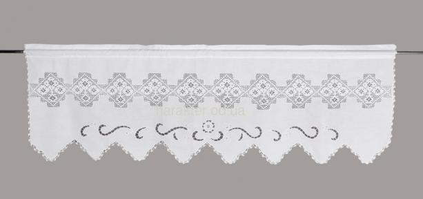 Занавіска з мереживом DF6346 (50х150см.) біла, крем лс