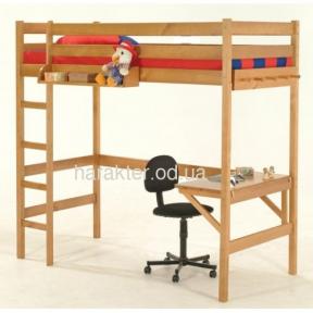 Кровать чердак с письменным столом рабочей зоной ШС Соло-1
