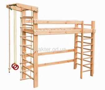 Спортивная кровать чердак, кровать чердак с шведской стенкой БГ