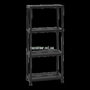 Универсальный стеллаж, этажерка на 4 полки Universal Vent 63-4, черный, 60x30x138h см