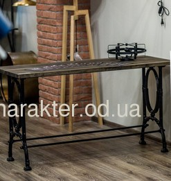 Стол в стиле Лофт из дерева ножки металл, Стіл Singer, РК арт. 3712