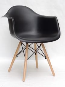 Кресло Leon (Леон) пластик (белый, антрацит, серый, желтый, бежевый) ножки деревянные ом