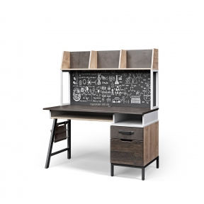 Стол письменный, компьютерный G-08 1300*650*750h без/с надстройкой к столу G-09 1300*250*740h ДБ
