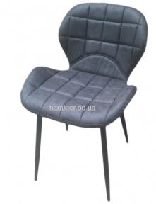 Стілець Дайм, м'який, ніжки метал, стул Дайм, мягкий, ножки металл, цвет серый