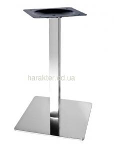 Опора для стола Кама, металл, нержавейка, высота 72 см мдс