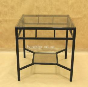 Стол стекло квадратный журнальный №16