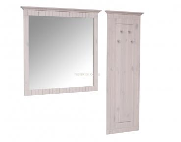 Зеркало Неаполь (белый воск)