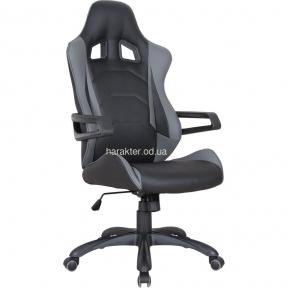 Кресло Vulcan черный, PU черный/серый амф