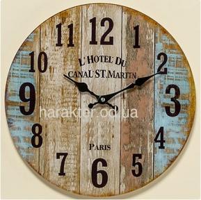 Настенные часы Шебби цветное лакированое стекло d34см 1005380 гп