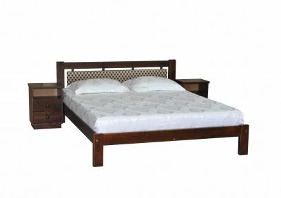 Кровать двуспальная деревянная Л-229 шм