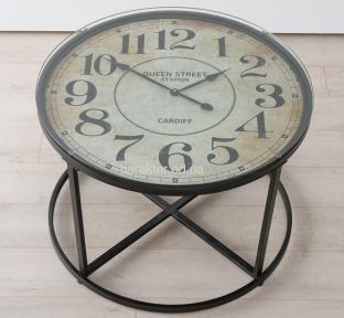 Стол журнальный Антик с часами h56см d80см ГП1095500