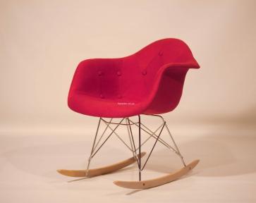 Кресло-качалка Leon (Леон) Soft Rack Вискоза (красный, коричневый, антрацит) ом