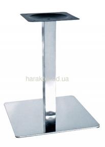 Опора для стола Нил, высота 72 см, основание 40*40 см, нержавеющая сталь мдс