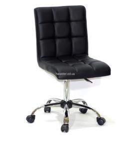 Стул офисный (компьютерный) Augusto на колесах, кожзам или бархат, основа хром или черный