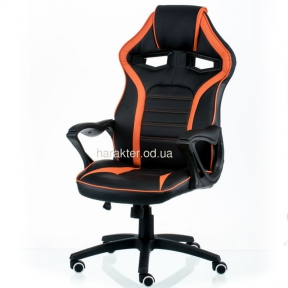 Кресло геймерсоке компьютерное Game black/orange (E5395), Game black/red (E5388) тсп