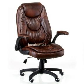 Кресло офисное, компьютерное Oskar Brown (Black) тсп
