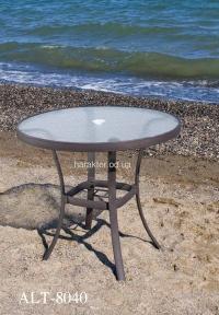 Алюминиевый стол, столешница стекло ALT - 8040 для кафе ом