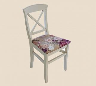 Стул Прованс с перекрестом из ясеня РБК с мягкой или твёрдой сидушкой, спинкой. Покраска в любой цвет