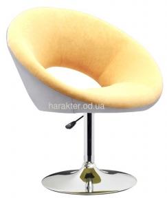 Кресло Беллино, кожзам, хром, регулируется, цвет бело-бежевый мдс