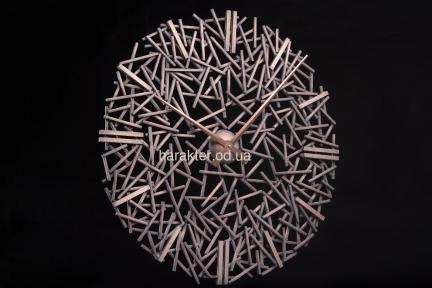 Часы из металла ВМ6 Металлическая стружка