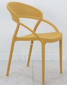 Стул дизайнерский пластиковый NELSON (Нелсон)  желтый, антрацит, белый