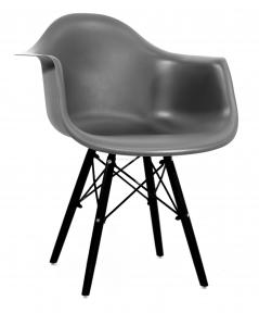 Кресло Leon (Леон) ВК пластик (антрацит, серый, бежевый) ножки деревянные черные