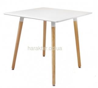 Стол обеденный Нури, деревянный, бук, 80х80 см, цвет белый, черный